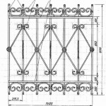 Кованная решетка вариант9
