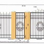 кованый забор вариант11