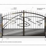 кованые ворота красивые